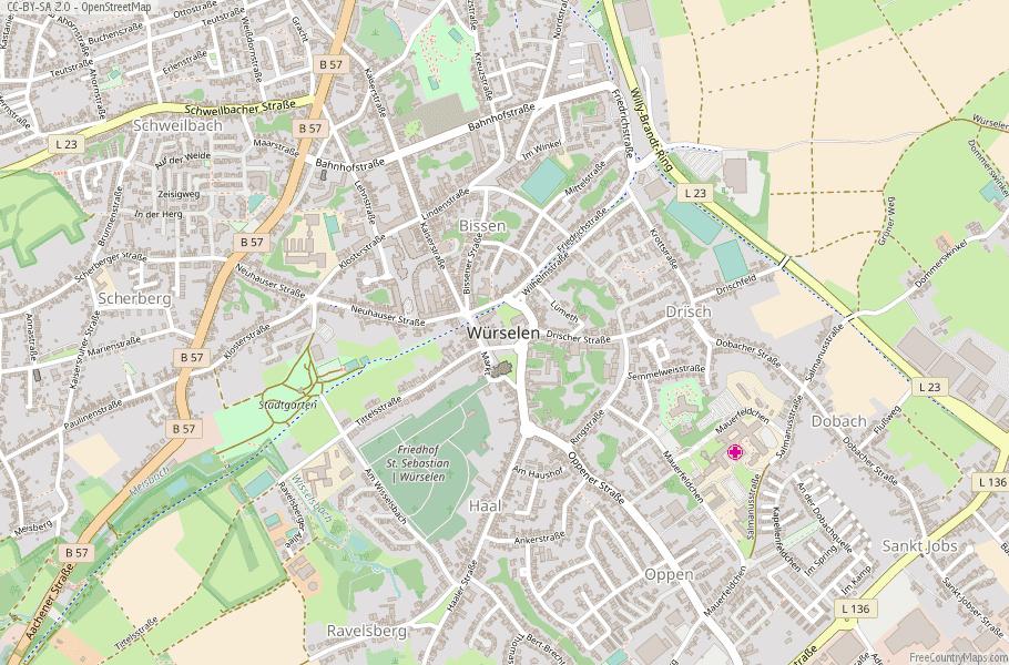 Würselen Germany Map