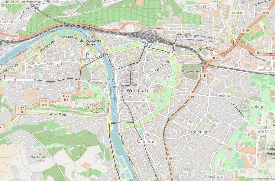 Würzburg Germany Map