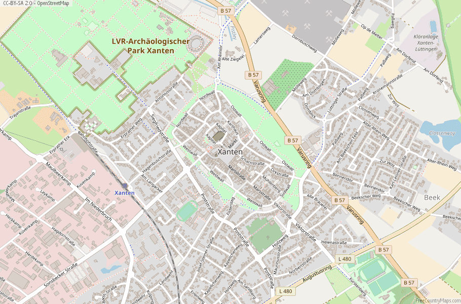 Xanten Germany Map