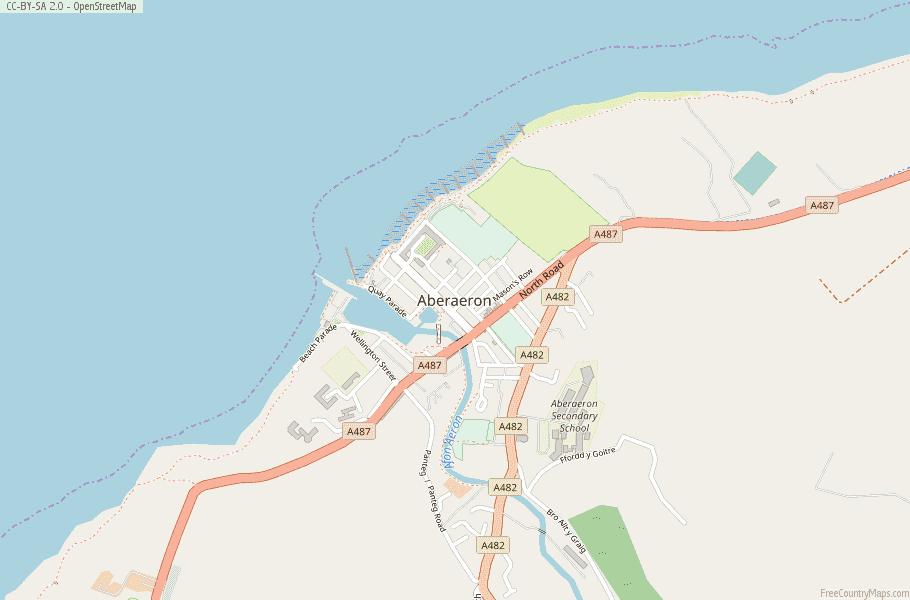 Aberaeron Wales Map