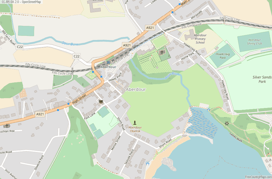 Aberdour Scotland Map
