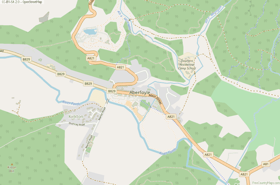 Aberfoyle Scotland Map