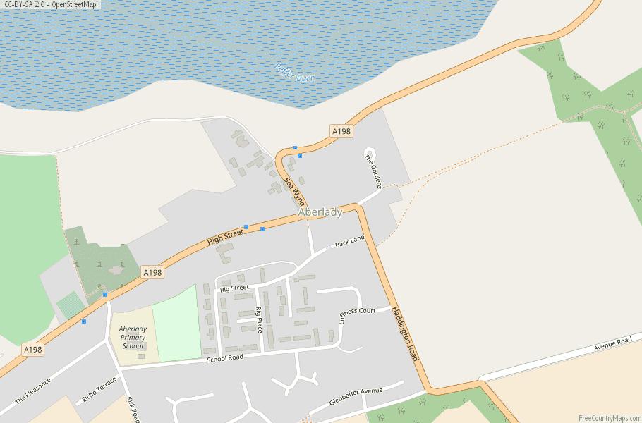 Aberlady Scotland Map
