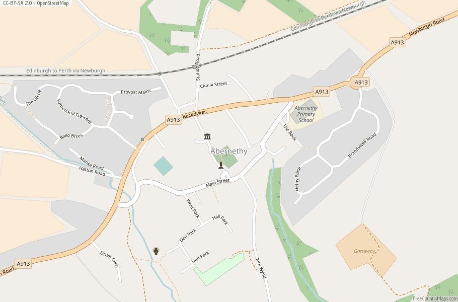 Abernethy Scotland Map