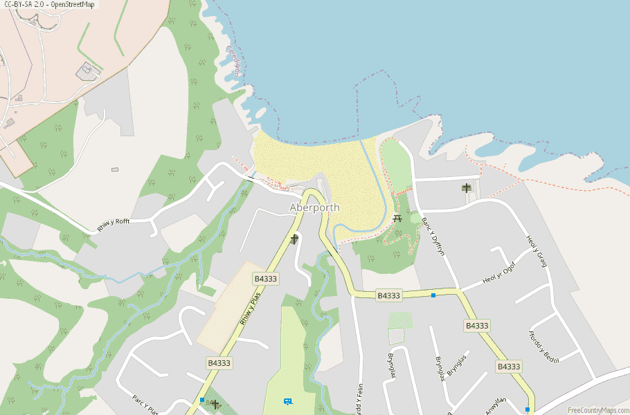 Aberporth Wales Map