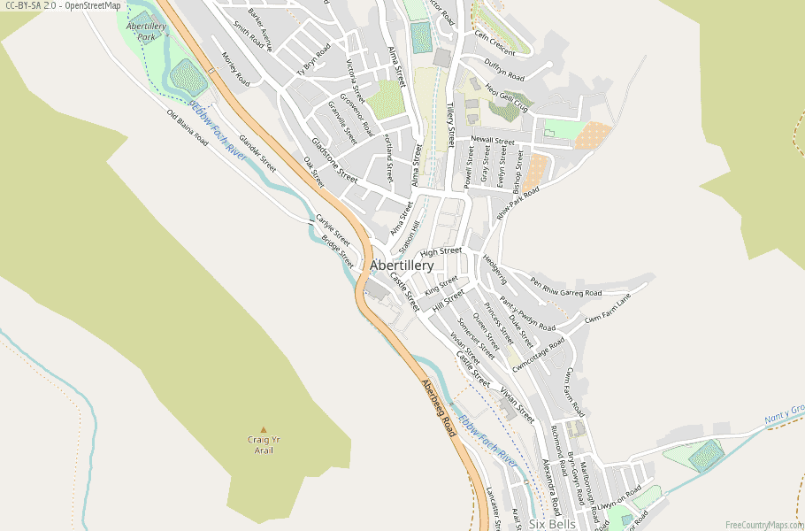 Abertillery Wales Map