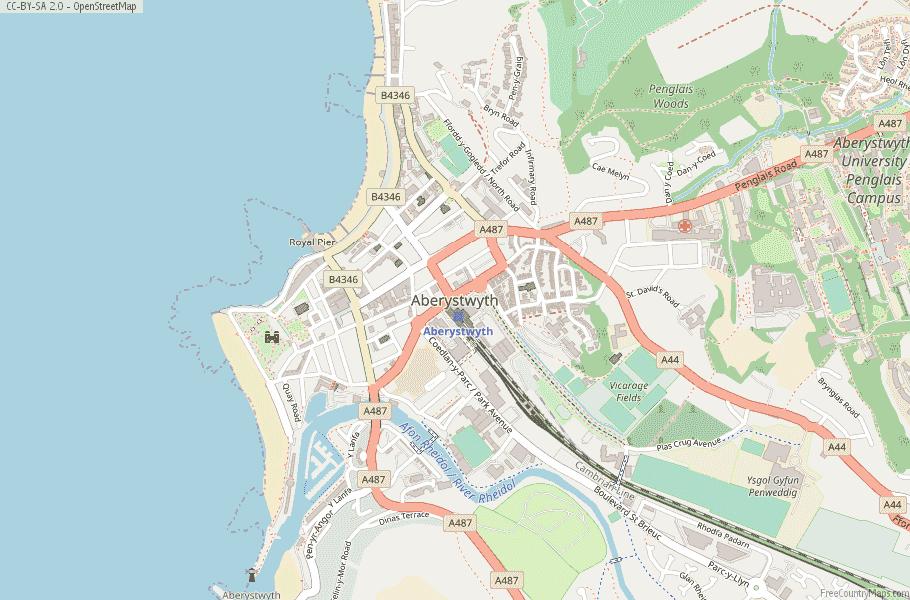 Aberystwyth Wales Map