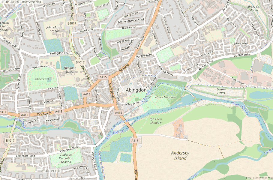 Abingdon England Map