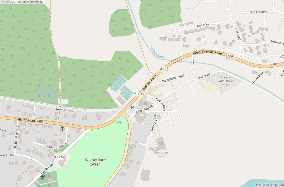 Aboyne Scotland Map