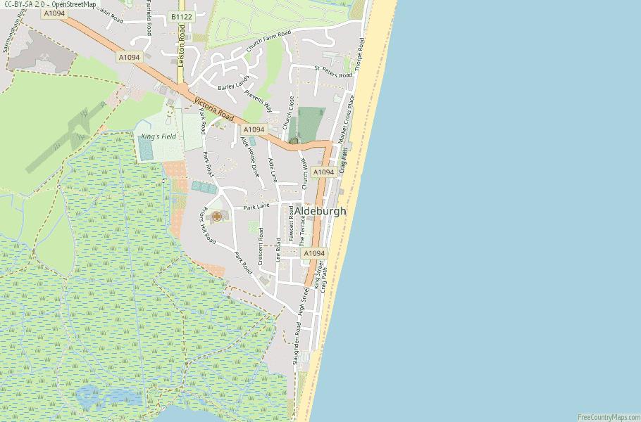 Aldeburgh England Map