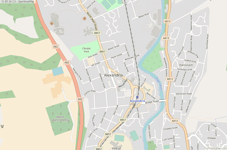 Alexandria Scotland Map