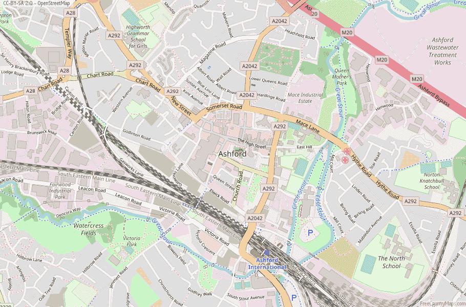 Ashford England Map