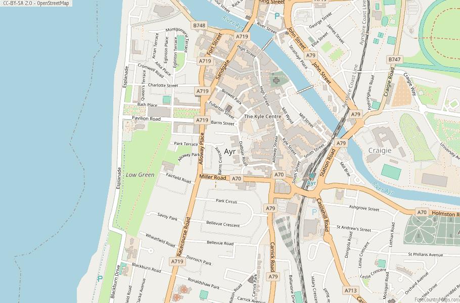 Ayr Scotland Map