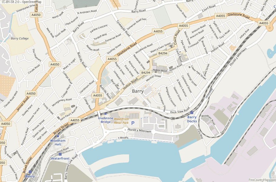 Barry Wales Map