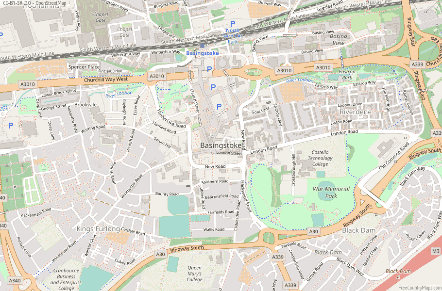 Basingstoke England Map