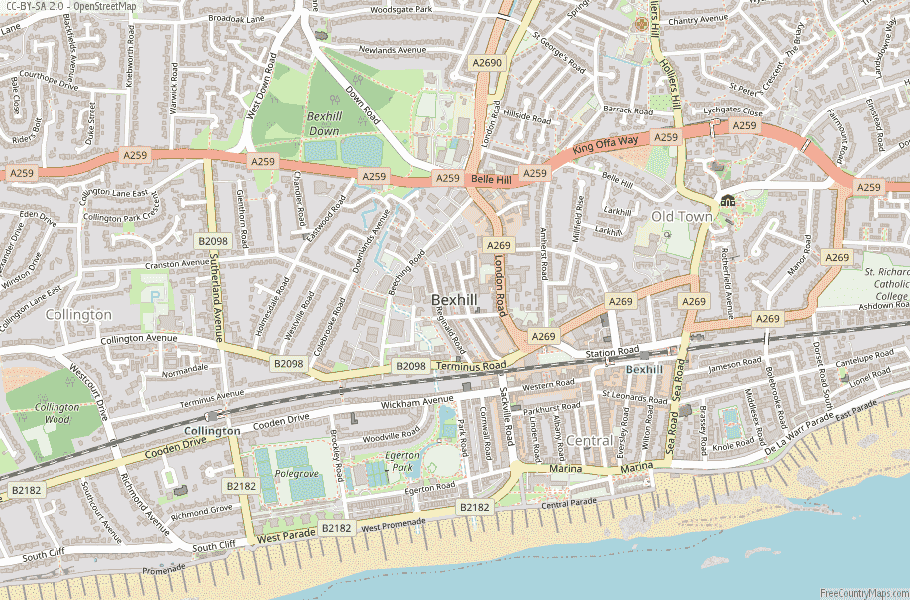 Bexhill England Map