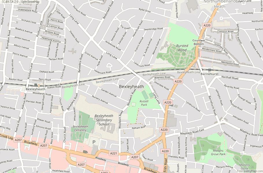 Bexleyheath England Map