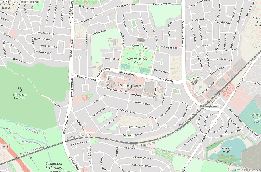 Billingham England Map