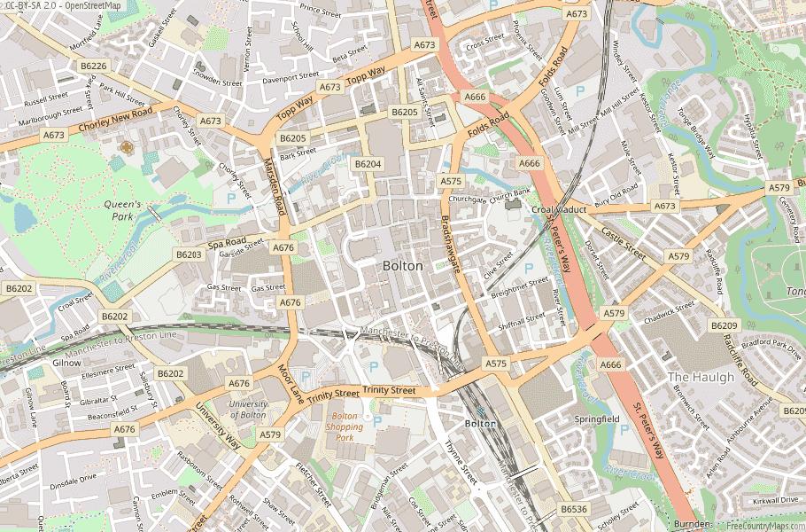 Bolton England Map