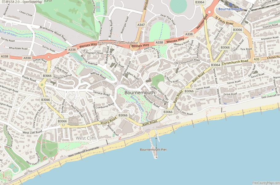 Bournemouth England Map
