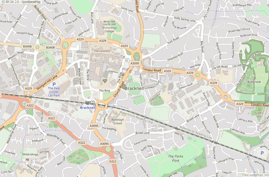 Bracknell England Map