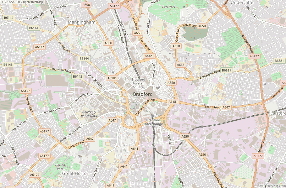 Bradford England Map