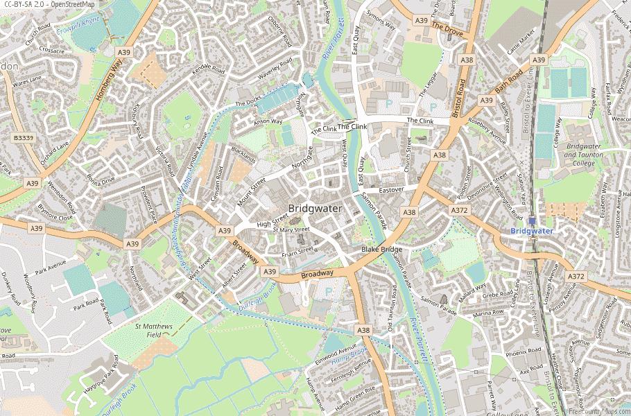 Bridgwater England Map