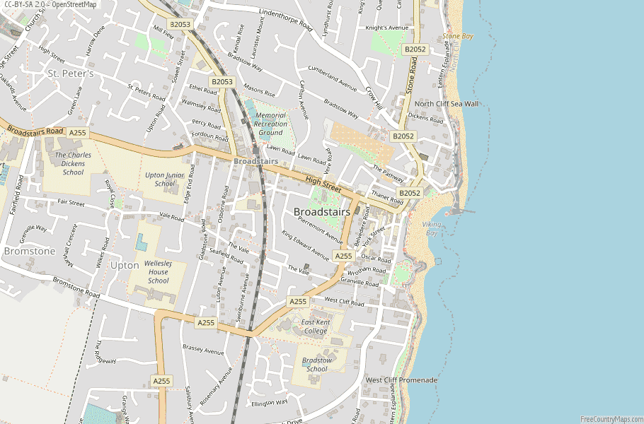 Broadstairs England Map
