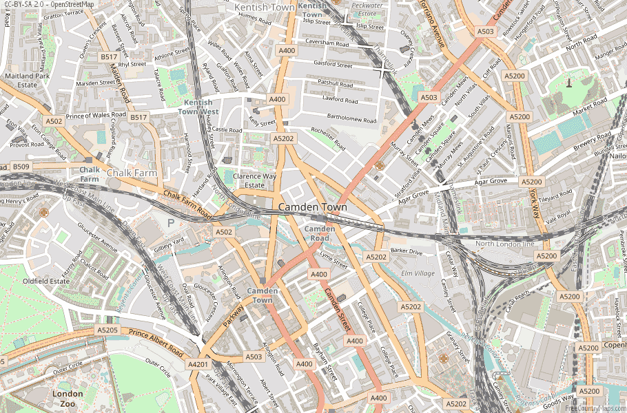 Camden Town England Map