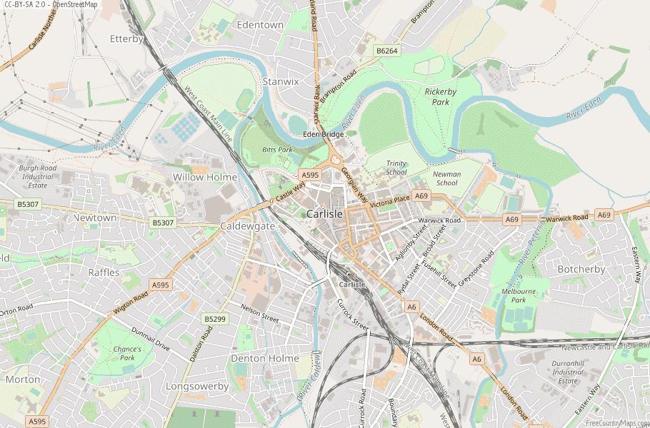 Carlisle England Map