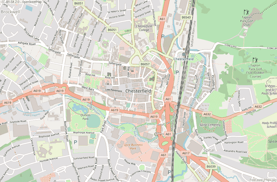 Chesterfield England Map