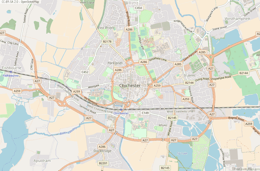 Chichester England Map