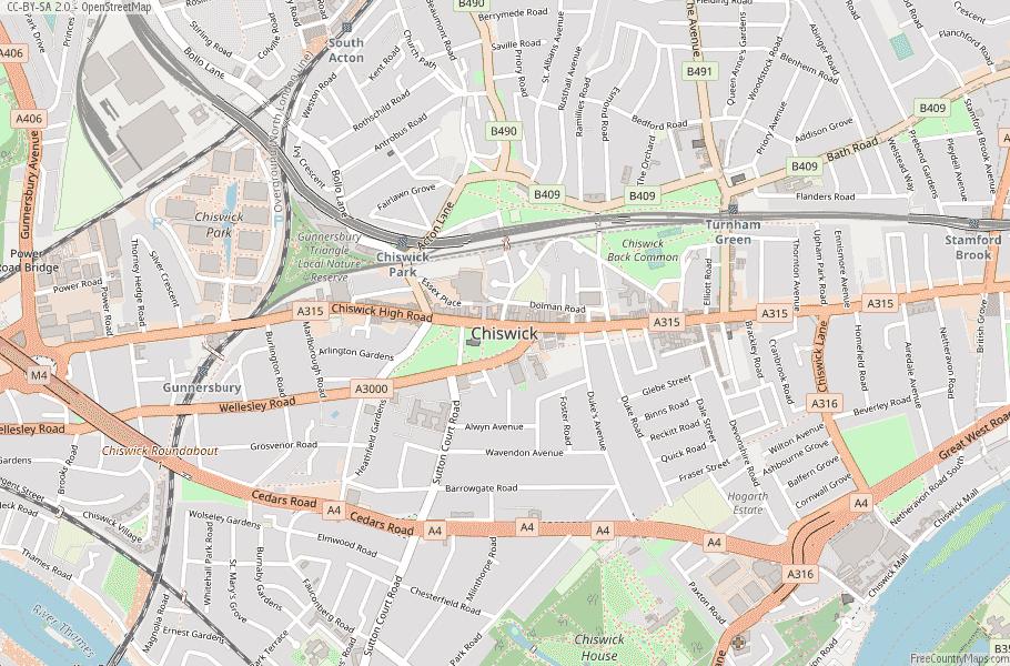 Chiswick England Map
