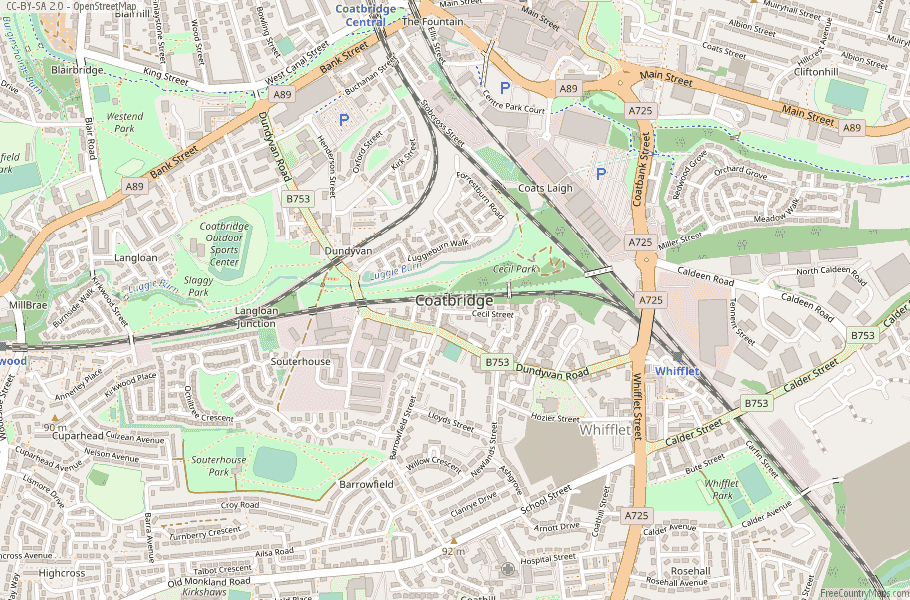 Coatbridge Scotland Map