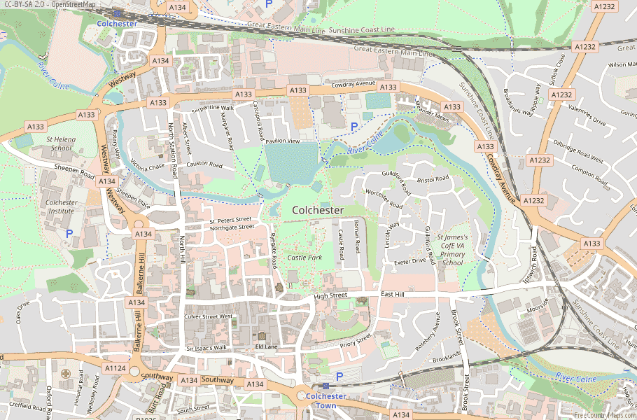 Colchester England Map