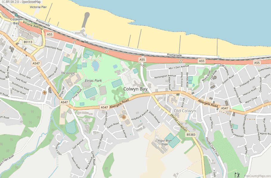 Colwyn Bay Wales Map