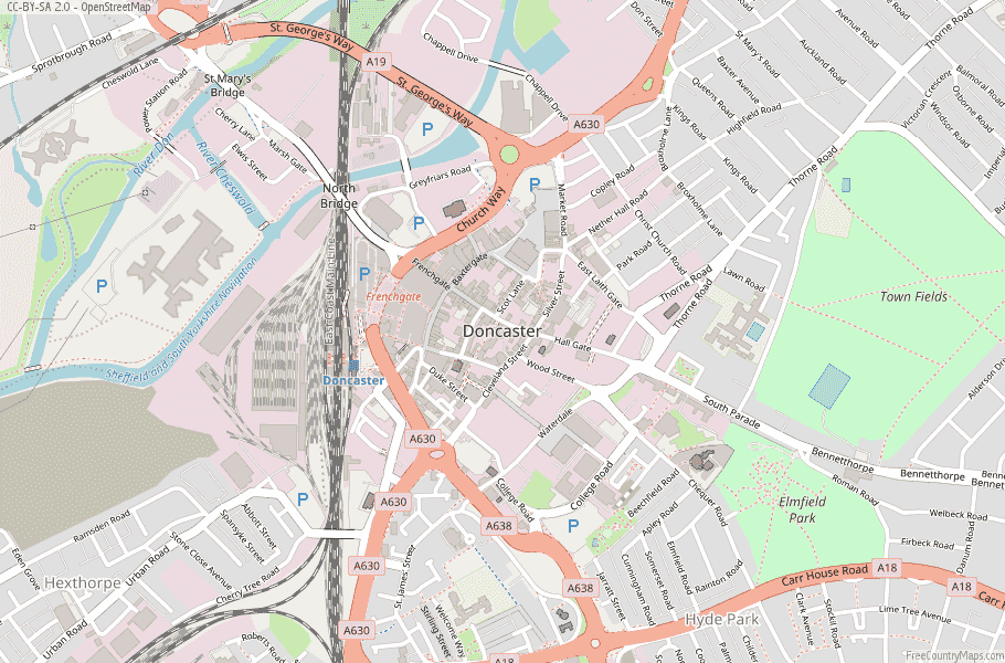Doncaster England Map