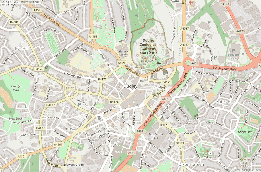 Dudley England Map