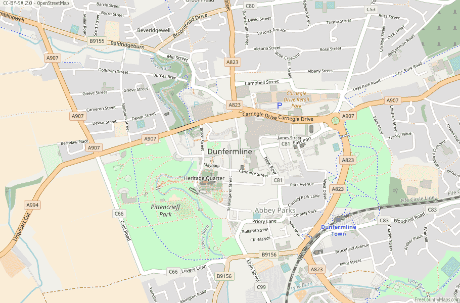 Dunfermline Scotland Map