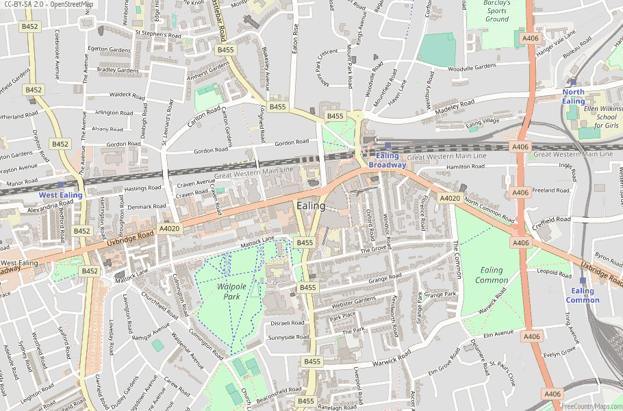Ealing England Map