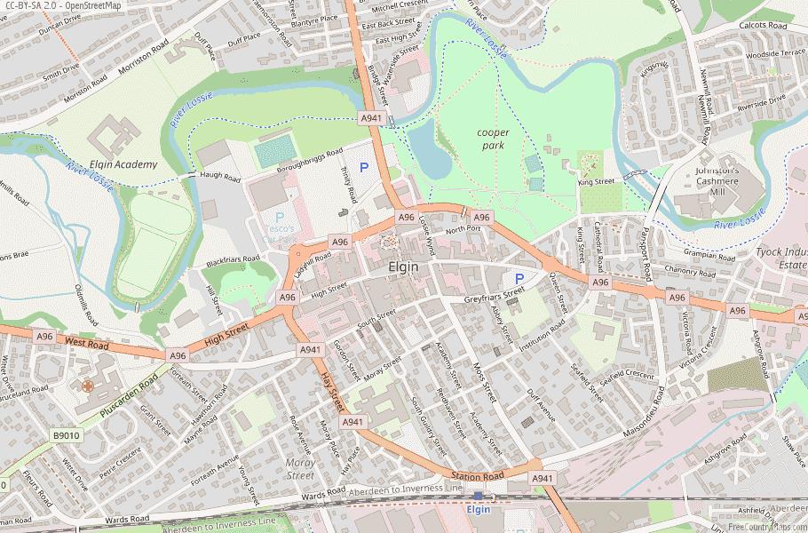 Elgin Scotland Map