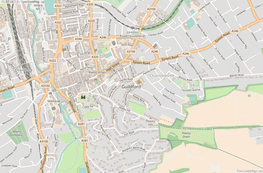 Guildford England Map