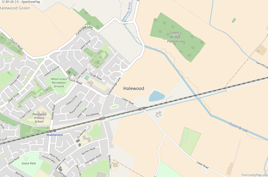 Halewood England Map
