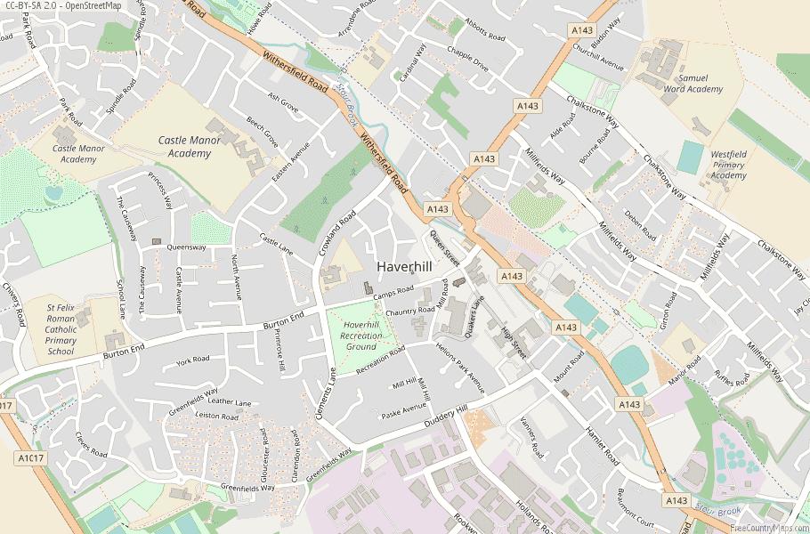 Haverhill England Map