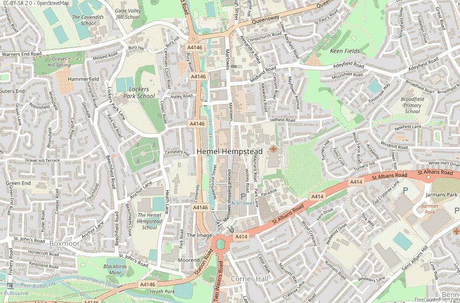 Hemel Hempstead England Map
