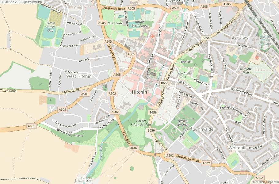 Hitchin England Map
