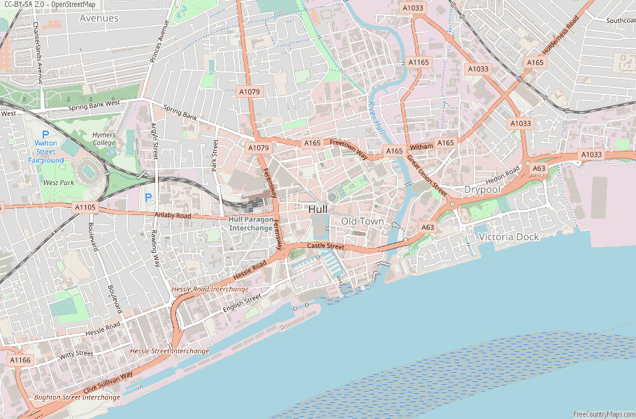 Hull England Map