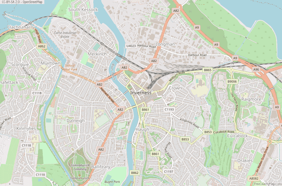 Inverness Scotland Map