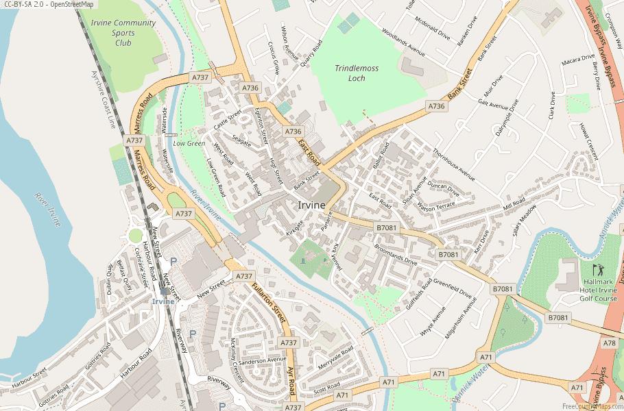 Irvine Scotland Map