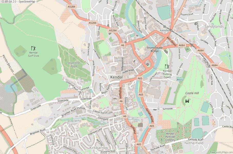 Kendal England Map